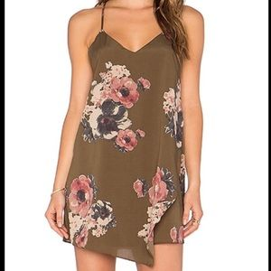 Free People Intimately Green Floral Cascades Dress